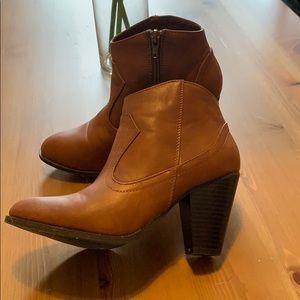 Cognac Brown Anole Booties by Bamboo